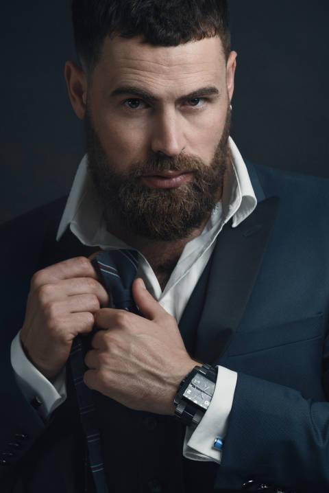 Vitali Fischer, Hairstylist und Model